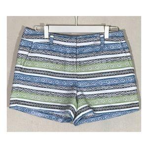 NWT Ann Taylor Loft Green & Blue Brocade Shorts